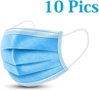 HSR Dust Antiviral Medical Mask Thickened Disposable Mouth Mask Pack Profession Disposable Mask Surgical 3-Ply Nonwoven Disposable Elastic Mouth Soft Breathable Flu Hygiene Face Surgical Mask(Blue, Free Size, Pack of 10, 3 Ply)