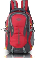 Metronaut Hammer Hi storage Travel 40L with rain cover 40 L Laptop Backpack(Red, Grey)