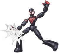 MARVEL Spider-Man Bend and Flex Miles Morales, 6-Inch Flexible Action Figure, Web Accessory, Ages 6 And Up(Multicolor)