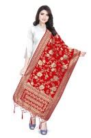 BEUNIV Art Silk, Jacquard Embroidered Women Dupatta