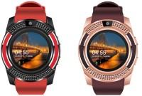 Kemipro SPORTS Bluetooth Smart Watch Band 4G Red Smartwatch(Multicolor Strap, Regular)