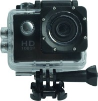 UNISHOPE HUB 1080p 12MP Sport Action Waterproof Camera 1080p 12MP Sport Action Waterproof Camera With Micro Sd Card Sports and Action Camera(Black, 1080 MP)