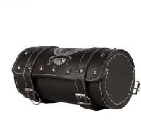 AUTOMOUNT Royal Enfield Bullet Side Bag/Saddle/Travel Bag/Carrier for All Bikes (Black) One-side Black Leatherette Motorbike Saddlebag(2.5 L)