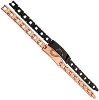 Men Style Stainless Steel Cubic Zirconia Titanium Bracelet Set(Pack of 2)
