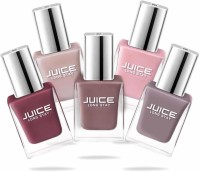 Juice Nail Paint Combo 32 Petal Pink, Camel, Sun Kissed, Dusty Coral, Teddy Brown