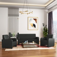 KURLON Apache Leatherette 3 + 1 + 1 Sofa Set