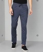 Metronaut Solid Men Dark Blue Track Pants