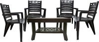 RW REST WELL Brown Plastic Table & Chair Set(Finish Color - Brown)