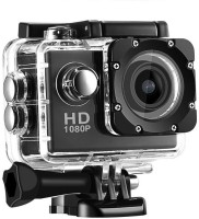 UNISHOPE HUB 1080 sport cam 1080p 12MP Sport Action Waterproof Camera Sports and Action Camera(Black, 1080 MP)