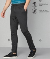 Metronaut Solid Men Grey Track Pants