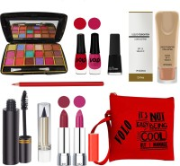 Volo All In One Makeup Kit Sets for Women Beginners 200320A6(Pack of 11)