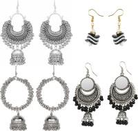 PRASUB PRASUB brings you Combo of 4 Trendy Designer Chandbali earrings Earrings for Women and Girls Alloy, Sterling Silver Drops & Danglers, Jhumki Earring, Cuff Earring