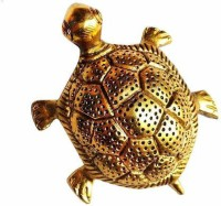 WELLWISHERS CRAFT Metal Tortoise For Good Luck Vastu/Fang Shui For Worship/Pooja/Gifting Item Home Office Use Decorative Showpiece  -  3.81 cm(Metal, Gold)