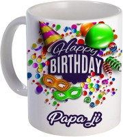 COLOR YARD best happy birthday Papa ji with birthday gift design on Ceramic Mug(320 ml)