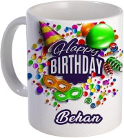 COLOR YARD best happy birthday Behan with birthday gift design on Ceramic Mug(320 ml)