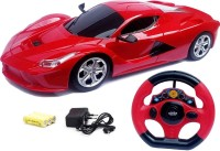 Kidz N Toys RC Jackman 1:18 Ferrari Style Racing Rechargeable Car With Radio Control Steering(Red)