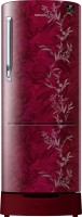 View Samsung 230 L Direct Cool Single Door 3 Star (2020) Refrigerator with Base Drawer(Mystic Overlay RED, RR24T285Y6R/NL)  Price Online