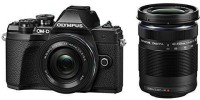 OLYMPUS OM-D E-M10 Mark III Mirrorless Camera Body with 14 - 42 mm, 40 - 150 mm Lens(Black)