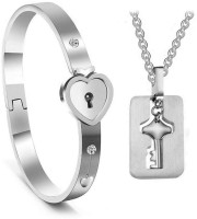 Jewelgenics Stainless Steel Jewel Set(Silver)