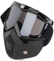 TRADE B Goggles Glasses Face Dust Mask With Detachable Nose and Face Motocross Helmet Power Tool  Safety Goggle(Free-size)