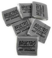 BRuSTRO Kneadable Art Eraser (Pack of 6) Non-Toxic Eraser(Set of 6, Grey)