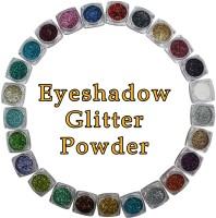 VOZWA Multicolor Eyeshadow Glitter Powder (Eyes + Face + Body) 25 pcs 25 ml(Multicolor)
