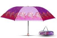 Aseenaa Printed Fancy & Stylish UV Umbrella for Wind, Sunlight & Rain for Women & Men with Attractive Cover - Purple Colour Umbrella(Purple)