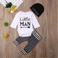 MintLimit 3pcs Newborn Apparel Combo Set Infant Babys Clothing Sets Short/Long Sleeve Infant Cartoon Printing Clothing Top,Pant,Hat