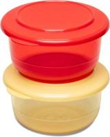 Tupperware Serving Preludio Bowl Set of 2 450 ml Plastic Serving Bowl(Yellow, Red, Pack of 2)