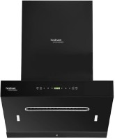 Hindware TITANIA60AUTOCLEAN Auto Clean Wall Mounted Chimney(BLACK 1350 CMH)