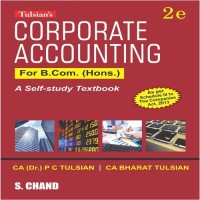 SChand Publications Corporate Accounting for B.Com. (Hons.) by P. C. Tulsian, Tulsian Bharat Higher Education(Voucher)
