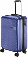 NASHER MILES Fifth Avenue Hard-Side Polycarbonate Cabin Luggage Bag Steel Blue 20 Inch | 55CM Trolley Bag Expandable  Cabin Luggage - 20 inch