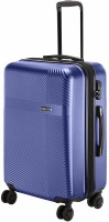NASHER MILES Fifth Avenue Expander Hard-Side Polycarbonate Check-in Luggage Bag Steel Blue 28 Inch | 75CM Trolley Bag Expandable  Check-in Luggage - 28 inch