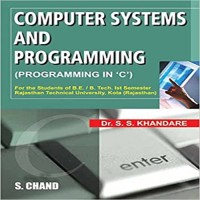 SChand Publications Computer Systems And Programming In 'C' by Dr. S.S. Khandare Higher Education(Voucher)