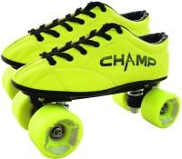 VICKY Champ Yellow Shoe Skates, UK-12C Quad Roller Skates - Size 12C UK(Yellow)