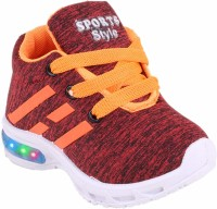 NEOBABY Boys & Girls Lace Casual Boots(Orange)