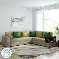 Muebles Casa Marco Leatherette 6 Seater  Sofa(Finish Color - Beige)