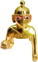 salvusappsolutions Metal Laddu Gopal for Home Decor Gifts Antique Items Home Decor Accessories (9x5x9 cm) Krishna Idols   bal Gopal   laddu Gopal Statue (Size - Medium) Decorative Showpiece  -  9 cm(Metal, Gold)