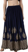 Fashioncutz Printed Women Regular Dark Blue Skirt