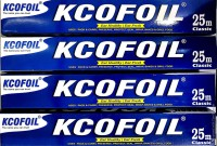 Kcofoil 25m Aluminium Silver Kitchen Foil Roll Paper Pack of 4, 11 Micron Thick, Food wrap, Bacteria Resistant, Disposable, Food Parcel, Hookah, Fresh Food Aluminium Foil(Pack of 4, 100 m)