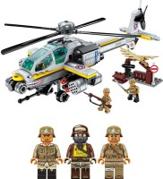 Qman Combat Zone Apache Raid Building Blocks for Kids 6 to 12 Years (280 pcs) 1719(Multicolor)
