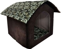 THE DDS STORE Foldable Velvet Fabric Pet House Brown, Small Dog, Cat House