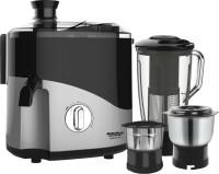 Maharaja Whiteline Odacio Plus JX1-157 550 W Juicer Mixer Grinder(Black, Grey, 3 Jars)