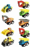 POKSI construction set for kids boys and girls motorcade pull along car set for kids(Multicolor, Pack of: 9)