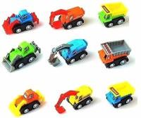 POKSI construction set for kids motorcade pull along car set for kids(Multicolor, Pack of: 9)