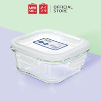 MINISO Square Food Container High Borosilicate Glass Storage Box Lunch Boxes 800ml