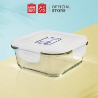 MINISO Square High Borosilicate Glass Food Container 310ml