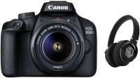 Canon EOS 3000D DSLR Camera Single Kit with 18-55 Lens and Starboy Headphone(Black)