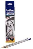 artline Graphite HB,2B,4B,6B,8B,10B, Set of 2 Pencil(Pack of 6)