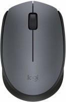 Logitech M-171 Wireless Optical Mouse(2.4GHz Wireless, Black, Grey)